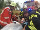 Übung FFW und DRK zu einem Verkersunfall4