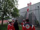 Übung DRK und FFW mit Leitern1